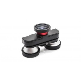 4-in-1 Wide Angle + Fish Eye + Macro Lens for iPhone 5